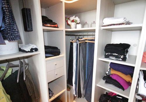 Creation d'un espace de rangement pour cellier et chaussures