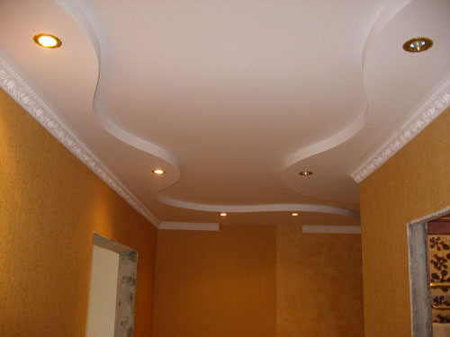 Model faux plafond couloir for Modele de platre pour plafond