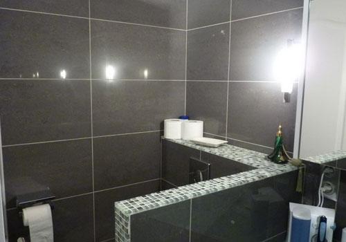 Changer le carrelage de sa salle de bain travaux pour pose - Prix pose carrelage mural salle de bain ...