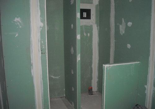 Fourniture et pose de cloison hydrofuge pour salle de bain - Volume d eau pour une douche ...